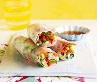 Fáciles y rápidos rolls de vegetales