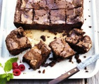 Original brownie de chocolate y frambuesa