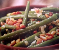 Recetas: Judías verdes con piñones