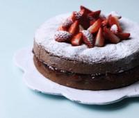 Torta de chocolate baja en grasa