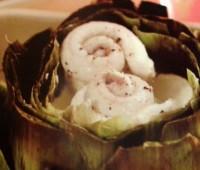 Deliciosas Alcachofas rellenas de lenguado
