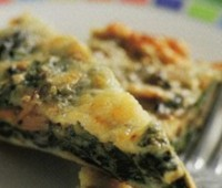 Recetas: Tortilla de espinacas y champiñones