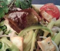 Ensalada  fresca con vinagreta de cilantro