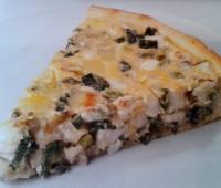 Riquísima Tarta de cebolla de verdeo y queso gruyer