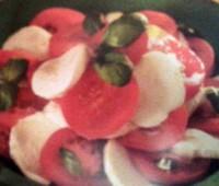 Ensalada de mozzarella con Tomates cherry
