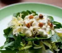 Ensalada de espinacas, yogur y nueces
