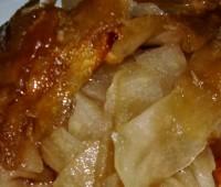 Manzanas o peras rehogadas con jarabe de arce y nueces