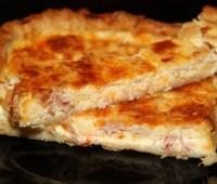 Facilísima Tarta de jamón y queso