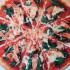 Pizza de salmón y de espinaca