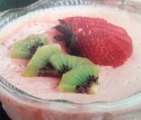 Riquísimo Postre de frutas y yogur