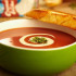 Riquísima Sopa crema de tomate