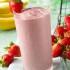 Fresco batido de frutillas y melón con yogur