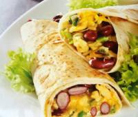 Riquísimos burritos con alubias rojas
