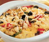 Riquísimo Pastel de hortalizas con queso de cabra
