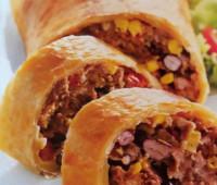 Deliciosos Rollos de hojaldre con carne picada