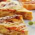 Tortilla de espárragos y jamón con tomate