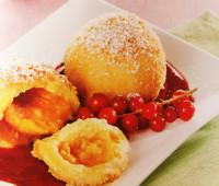 Riquísimas Bolas de duraznos con jarabe de frutas