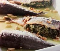 Sardinas rellenas con espinacas
