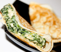 Receta light:  Saludables crepes de vegetales
