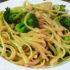 Fideos caseros con oliva, ajo y brócoli