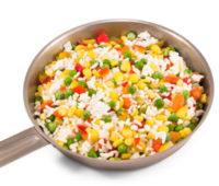 Facilísima Ensalada de arroz a la jardinera