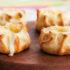 Deliciosas canastitas de puerro, pimientos y queso
