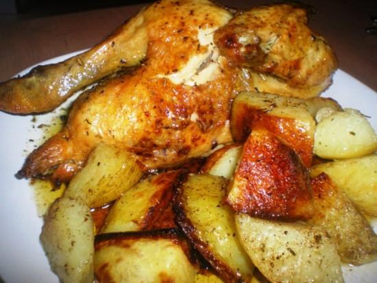 Pollo al horno recetas de cocina caseras cocinachic - Como cocinar pollo al horno ...