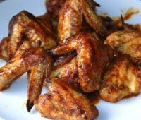 Ricas Alitas de pollo con salsa de jengibre y miel
