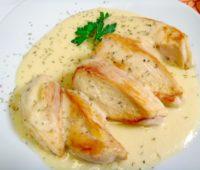 Delicioso Pollo a la crema de mostaza para compartir