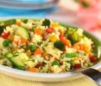 Delicioso y saludable arroz con verduras
