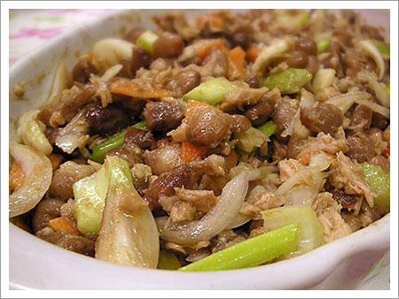 Ensalada de porotos at n zanahorias y cebolla cocinachic - Ensalada de apio y zanahoria ...