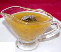 Vinagreta de mostaza y albahaca.
