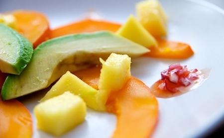 Resultado de imagen para Ensalada de palta, palmitos y mango.