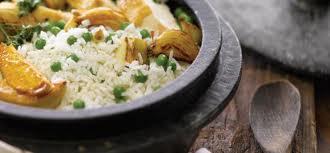 arroz pollo y arvejas