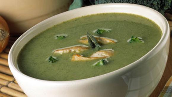 sopa crema de brocoli