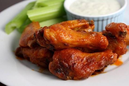 Alitas de pollo en salsa oriental