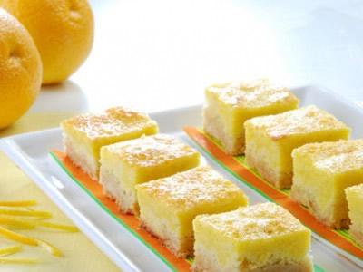 cuadraditos de naranja