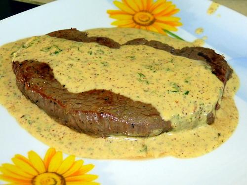 carne ala mostaza