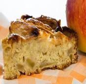 Receta: Torta de manzanas y nueces