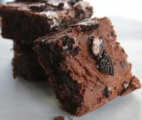 Recetas dulces: Brownie con oreos