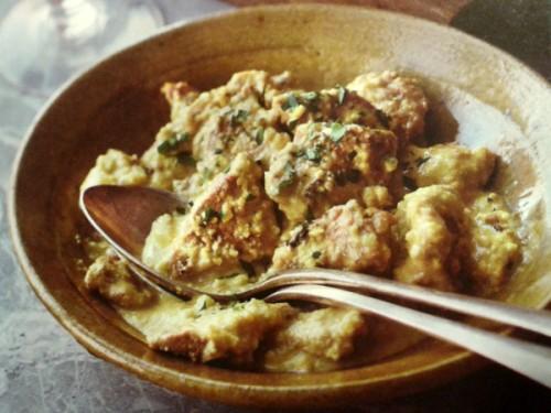 Recetas h gado de ternera con salsa de azafr n cocinachic for Cocinar higado de ternera