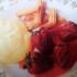 Frutillas grilladas con helado de limón