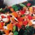 Ensalada de berros y hongos con salsa de soja