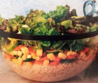 Riquísimo Arroz tostado con vegetales y ensalada verde