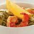 Original Ensalada de pasta verde con gambas