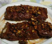 Entraña a la plancha con salsa de mostaza y miel deliciosa para compartir