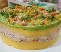 Deliciosa y nutritiva torta de vegetales y atún