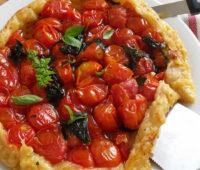 Original y deliciosa tarta de tomates cherry