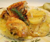 Delicioso Pollo con salsa de sidra